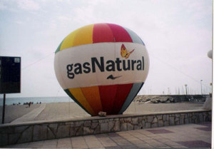 gas natural screen
