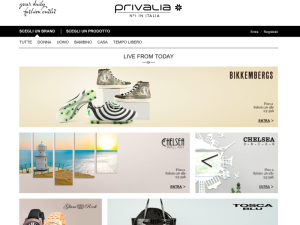 Privalia screen