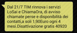 ti ho cercato Tim screen