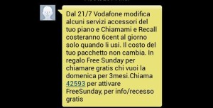 recall vodafone screen