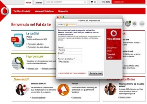 segreteria telefonica vodafone screen