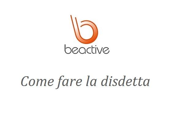 Come fare disdetta Beactive screen
