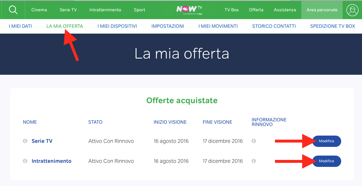 now tv la mia offerta